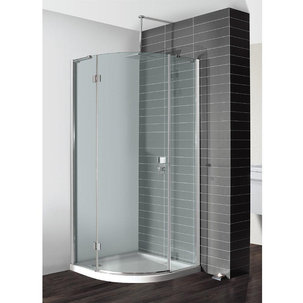 Simpsons - Design Quadrant Single Hinged Door Shower Enclosure - 3 Size Options Large Image