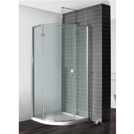 Simpsons - Design Quadrant Single Hinged Door Shower Enclosure - 3 Size Options