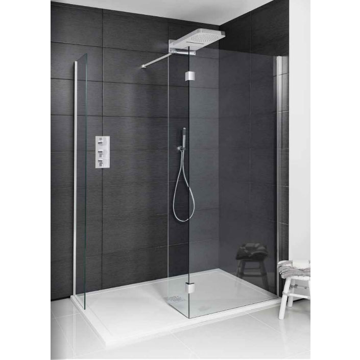 Simpsons - Design View Double Sided Walk In Shower Enclosure - 2 Size Options Large Image