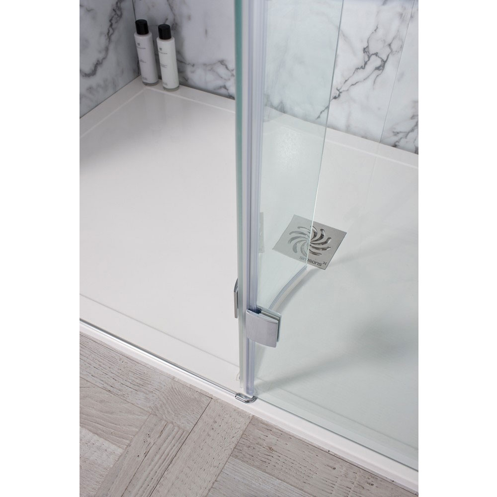 Simpsons - Design View Walk In Easy Access Shower Enclosure - 2 Size Options Profile Large Image