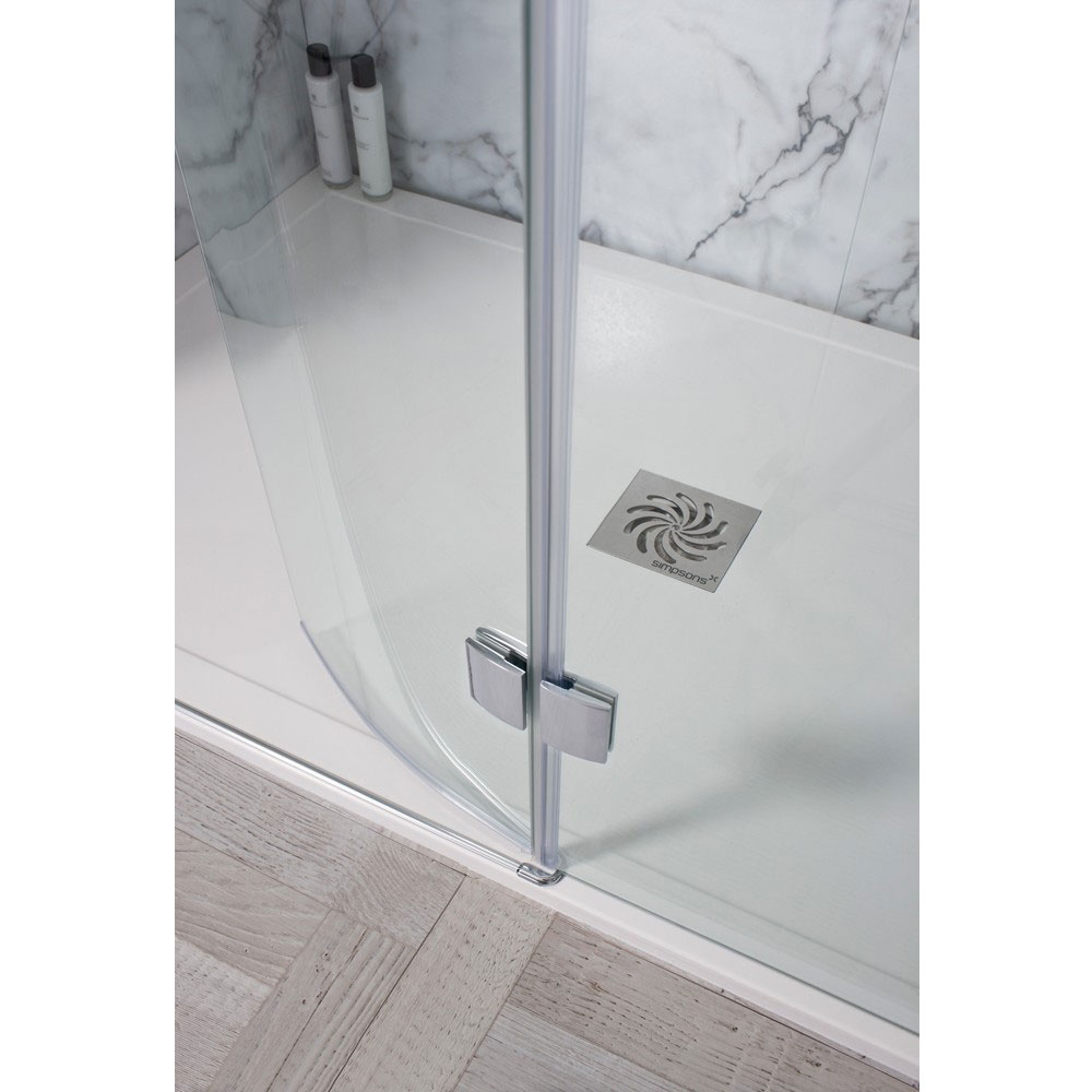 Simpsons - Design View Walk In Easy Access Shower Enclosure - 2 Size Options Feature Large Image