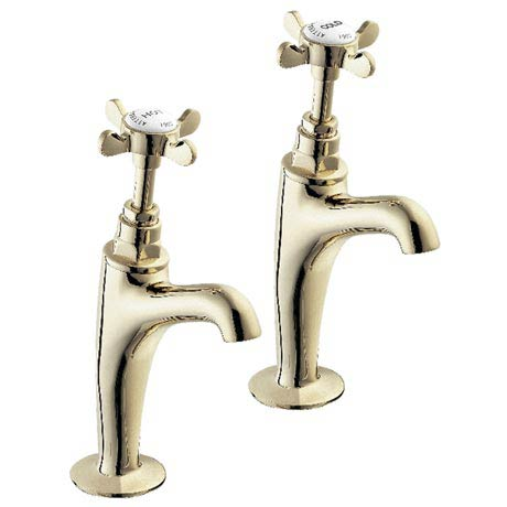 "Deva Coronation 1/2"" BS1010 High Neck Sink Taps - Gold"