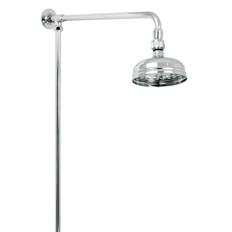 Deva Period Style Rigid Riser Shower Kit - Chrome - KITS08