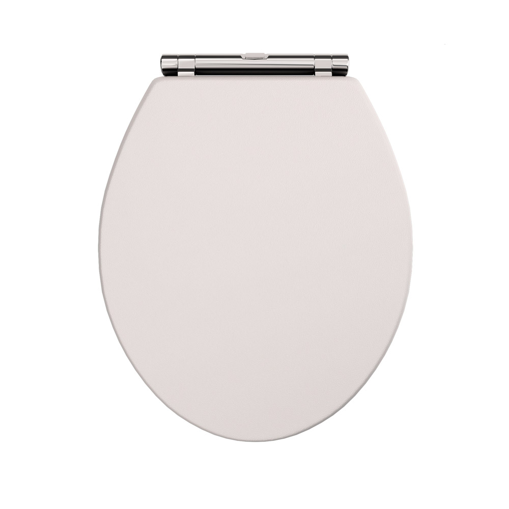 Devon Carlton Cashmere Quick Release Toilet Seat with Chrome Hinges profile large image view 2