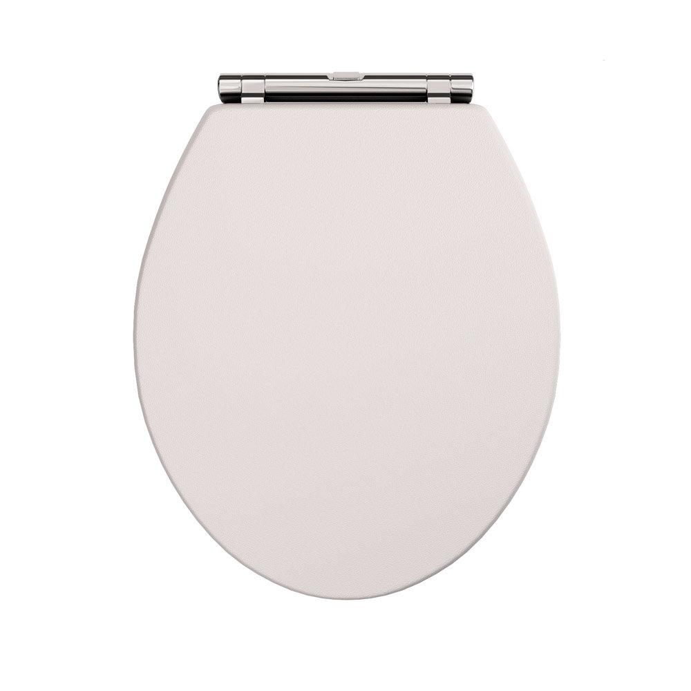 Devon Carlton Cashmere Quick Release Toilet Seat with Chrome Hinges Profile Large Image