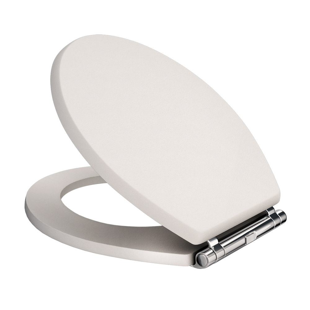 Devon Carlton Cashmere Quick Release Toilet Seat with Chrome Hinges Large Image