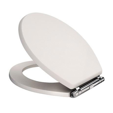 Devon Carlton Cashmere Quick Release Toilet Seat with Chrome Hinges
