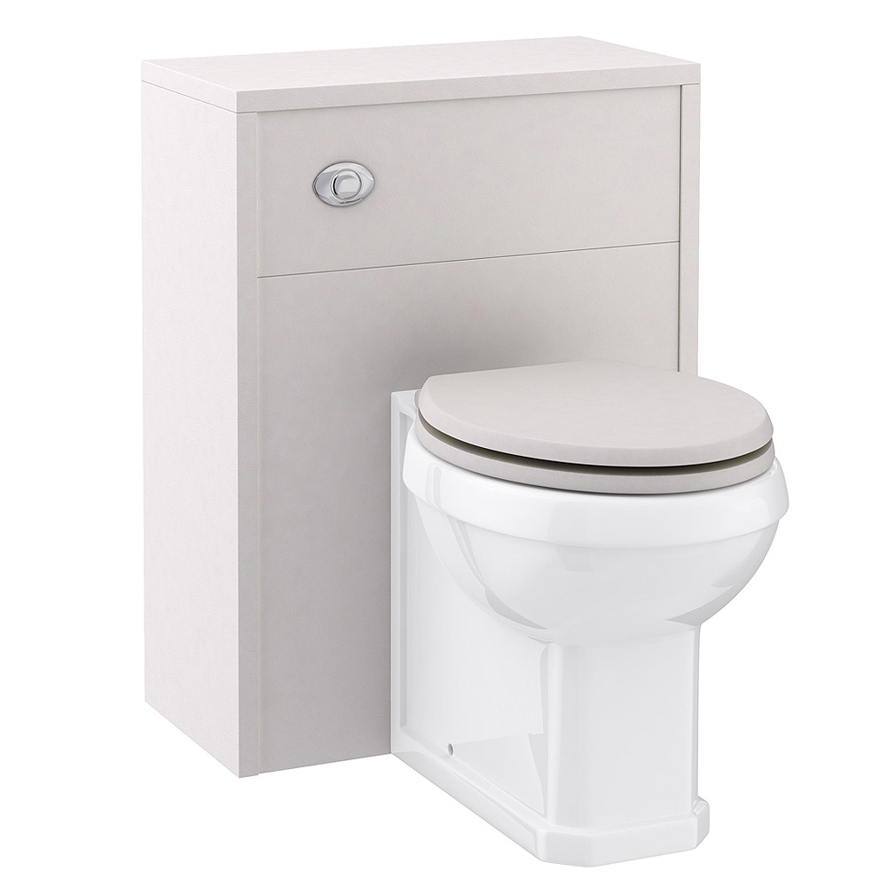 Devon Cashmere 600mm Traditional Back To Wall WC Unit with Pan & Seat Large Image