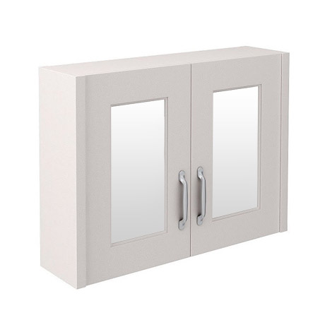 Devon Cashmere 800mm Traditional 2 Door Mirror Cabinet