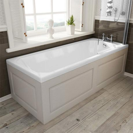 Devon cashmere single ended traditional bath panels for Chatsworth bathroom faucet parts