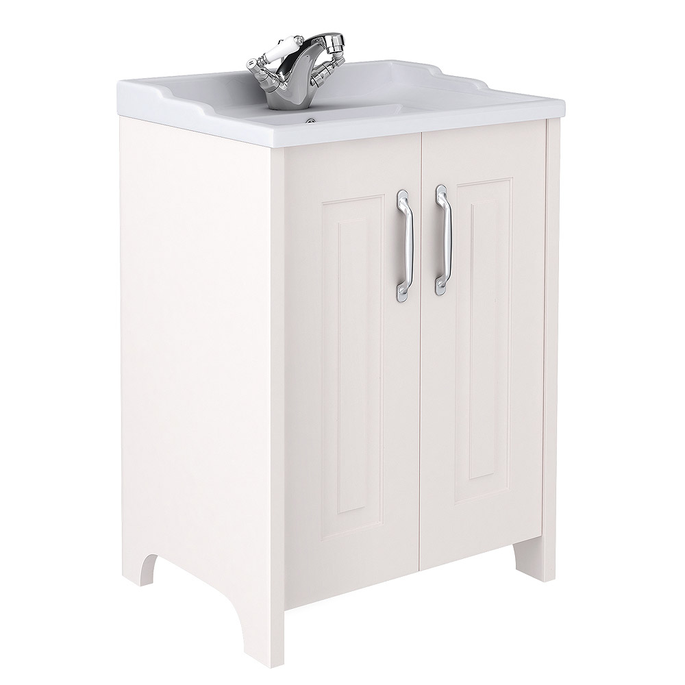 Devon Ivory Traditional 2 Door Vanity Unit (600 x 460mm) Large Image