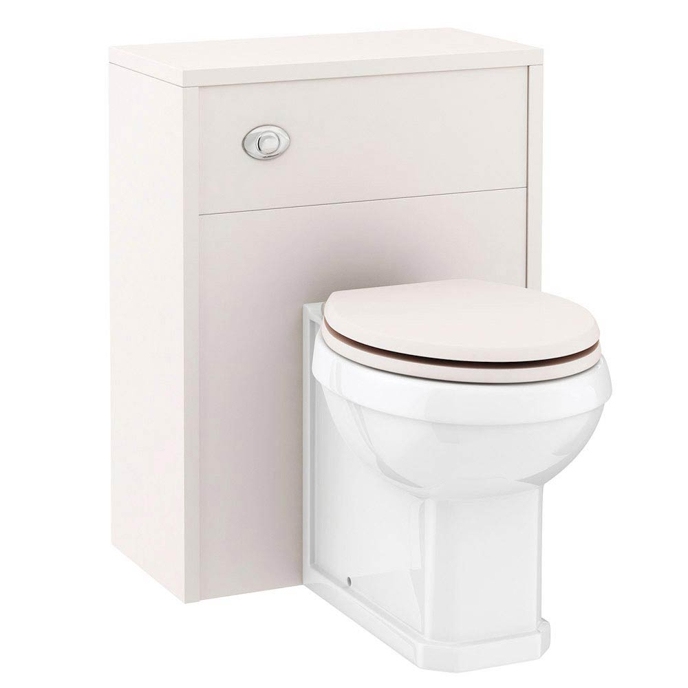 Devon Ivory 600mm Traditional Back To Wall WC Unit with Pan + Seat profile large image view 3