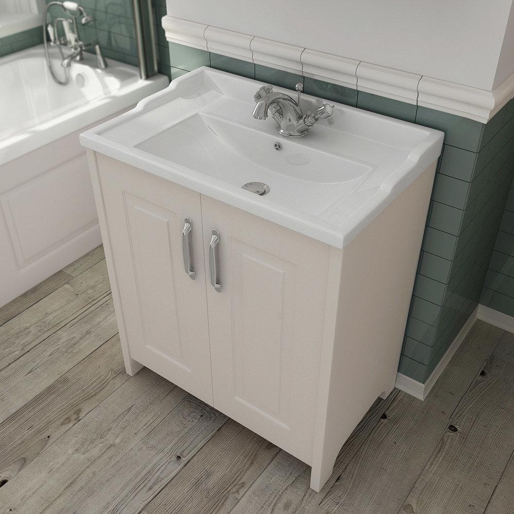 Devon Ivory Traditional 2 Door Vanity Unit (800 x 460mm) profile large image view 2