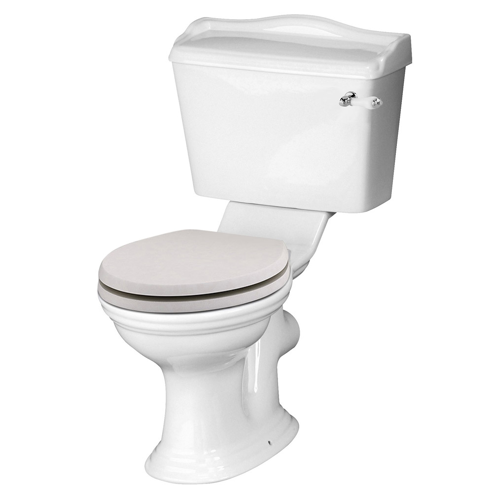 Devon Ryther Close Coupled Toilet with Cashmere Soft Close Seat Large Image