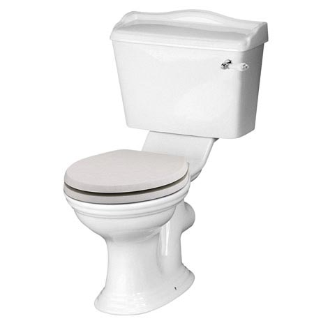 Devon Ryther Close Coupled Toilet with Cashmere Soft Close Seat