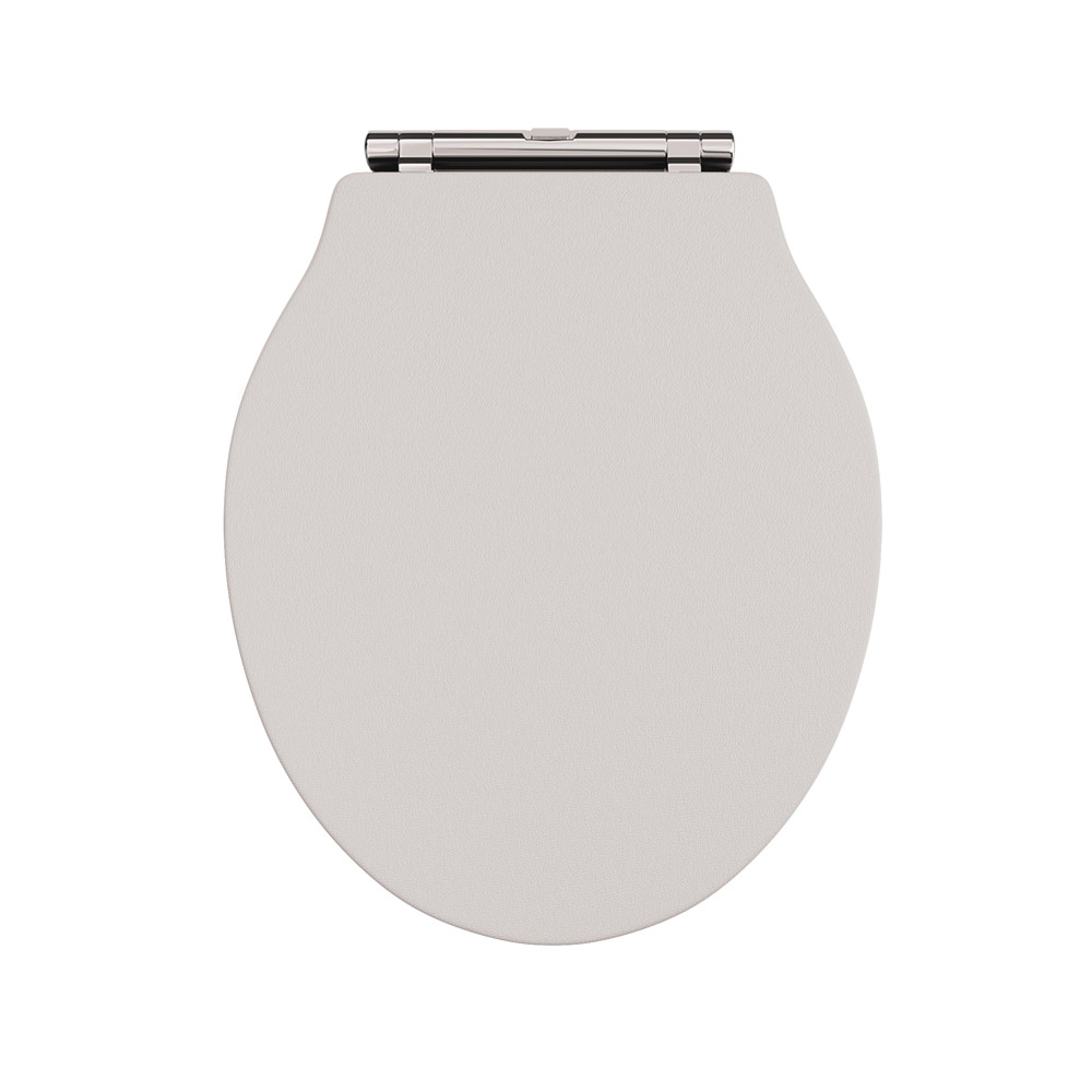 Devon Ryther Cashmere Quick Release Toilet Seat with Chrome Hinges Profile Large Image