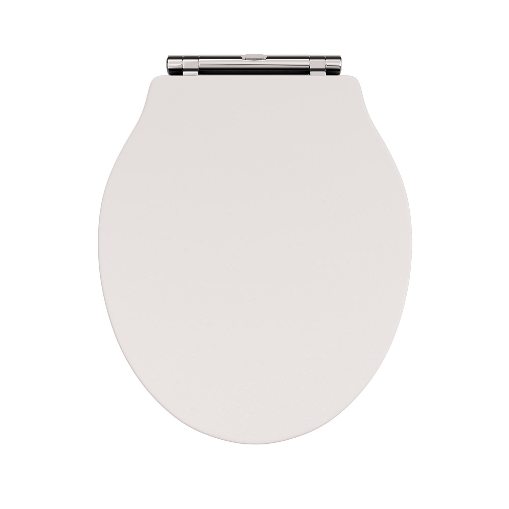Devon Ryther Ivory Quick Release Toilet Seat with Chrome Hinges profile large image view 2