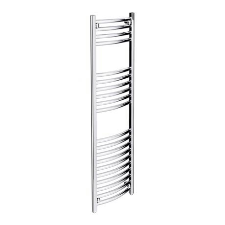 Diamond Curved Heated Towel Rail - W300 x H1200mm - Chrome