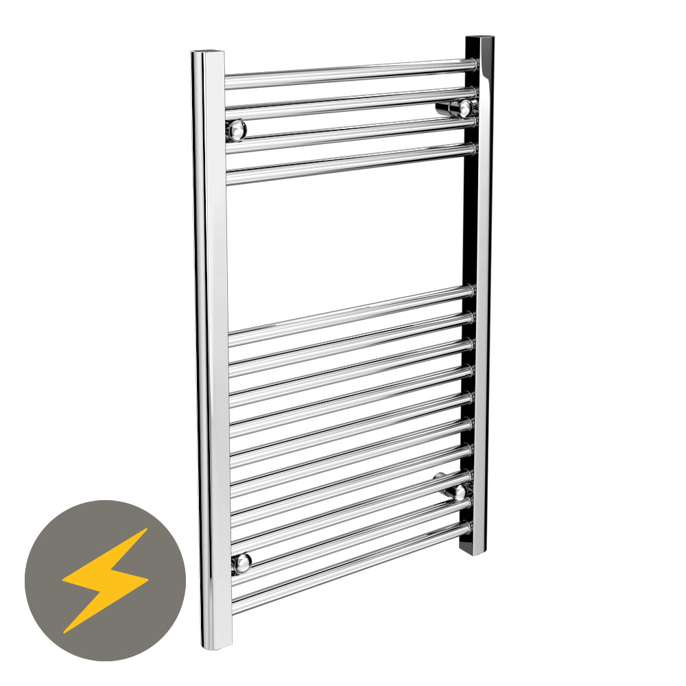 Diamond Electric Heated Towel Rail (500mm x 800mm) profile large image view 1