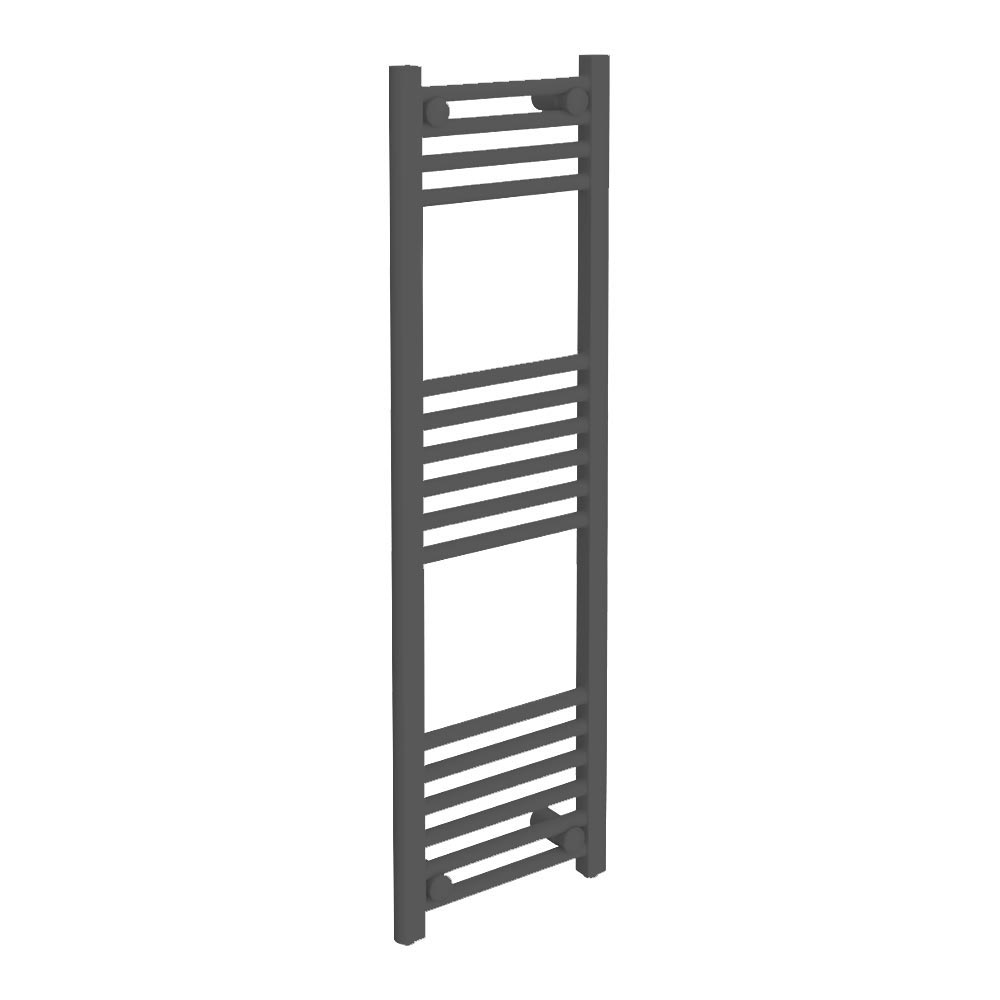 Diamond Heated Towel Rail - W300 x H1000mm - Anthracite profile large image view 1