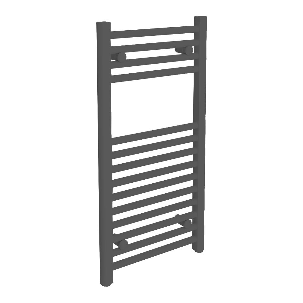 Diamond Heated Towel Rail -  W400 x H800mm - Anthracite Large Image