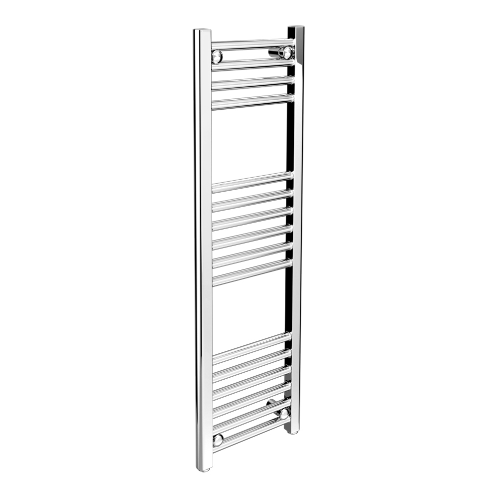 Diamond Heated Towel Rail - W300 x H1000mm - Chrome - Straight Large Image