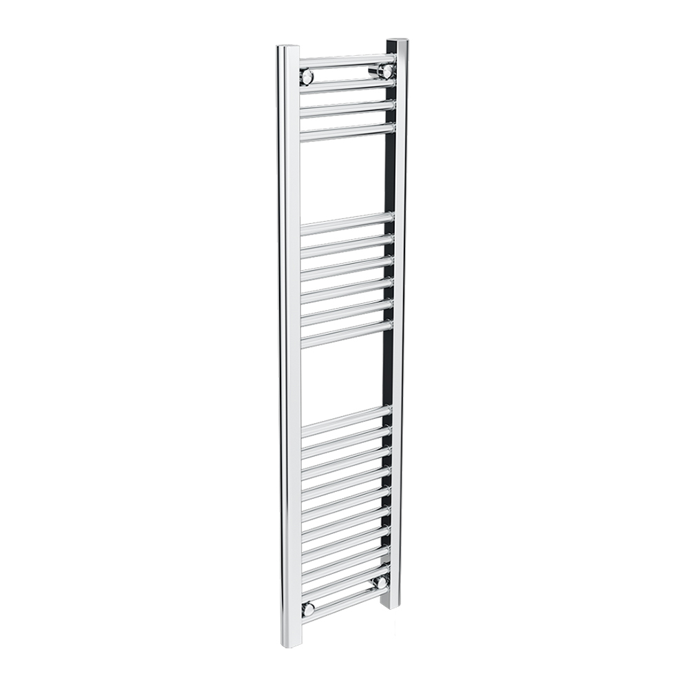Diamond Heated Towel Rail - W300 x H1200mm - Chrome - Straight profile large image view 1