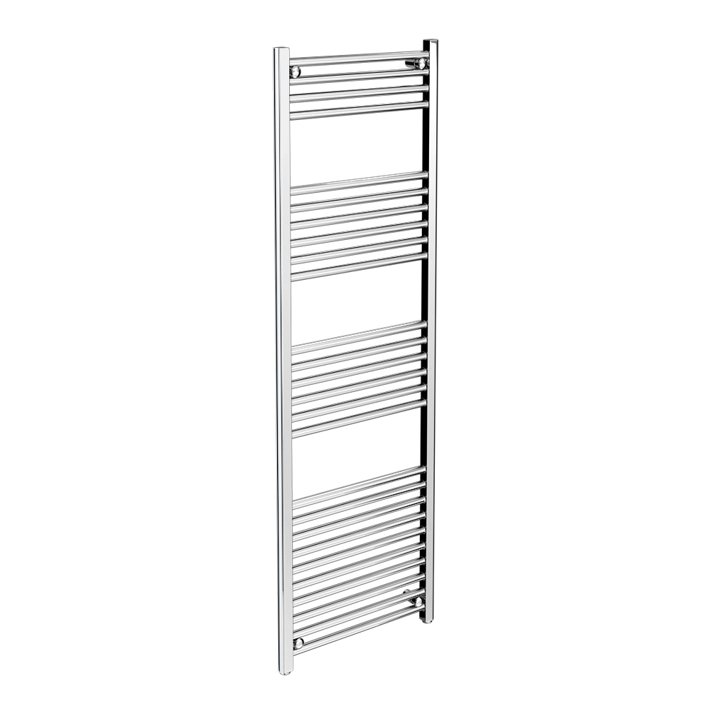 Diamond Heated Towel Rail - W500 x H1600mm - Chrome - Straight profile large image view 1