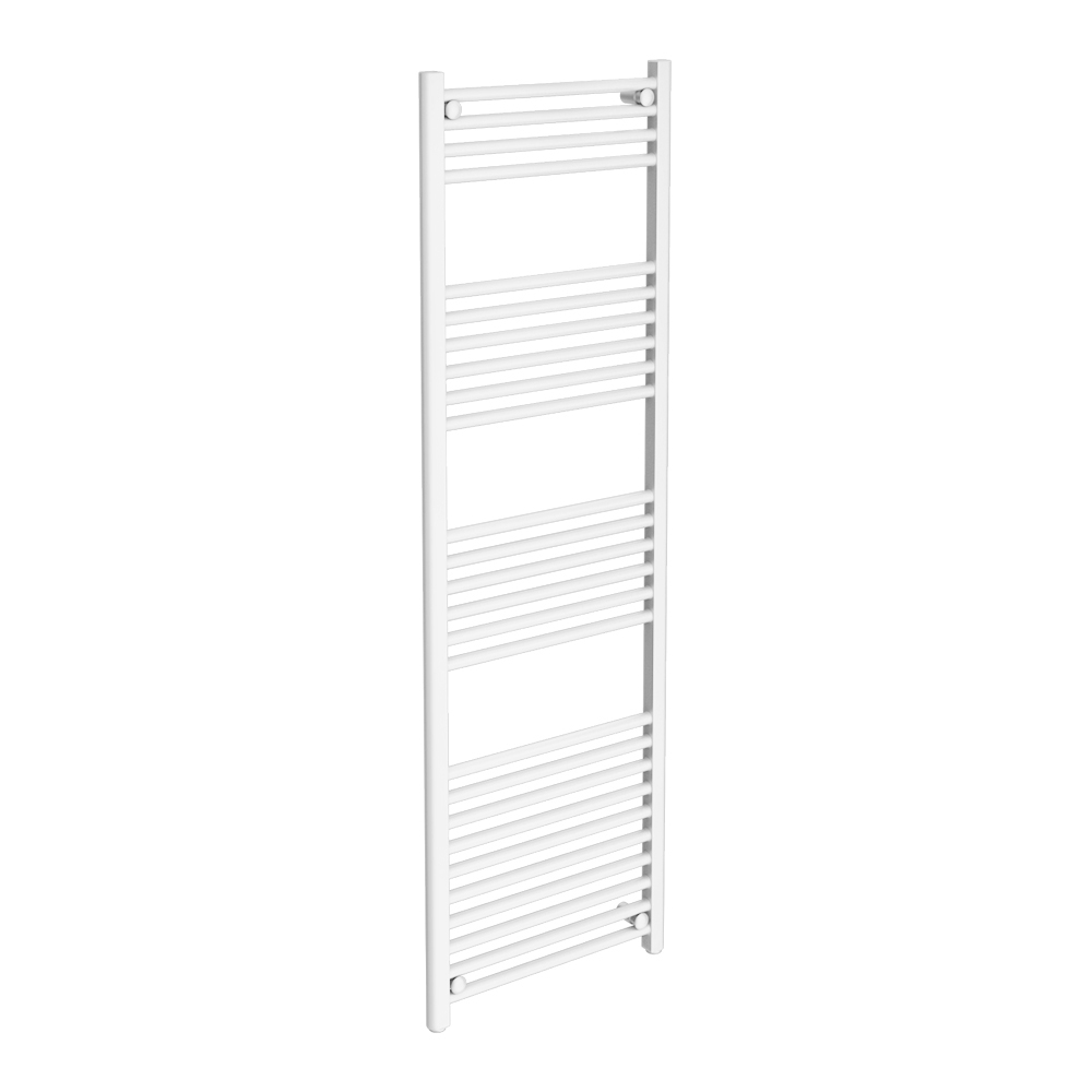 Diamond Heated Towel Rail - W500 x H1600mm - White - Straight Large Image