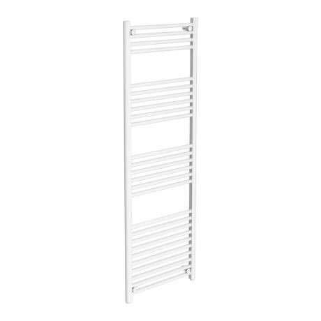 Diamond Heated Towel Rail - W500 x H1600mm - White - Straight