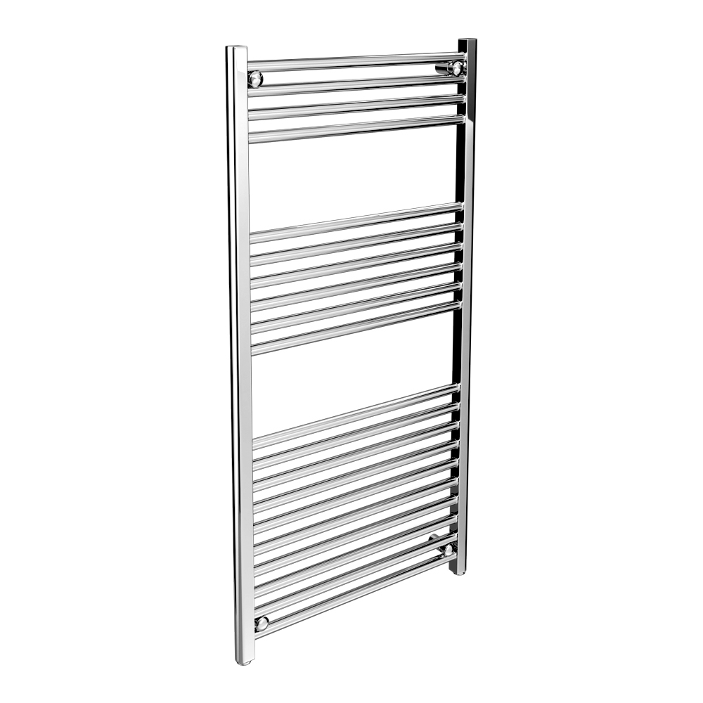 Alpine Modern Heated Towel Rail Warmer Chrome: Diamond Straight Heated Towel Rail