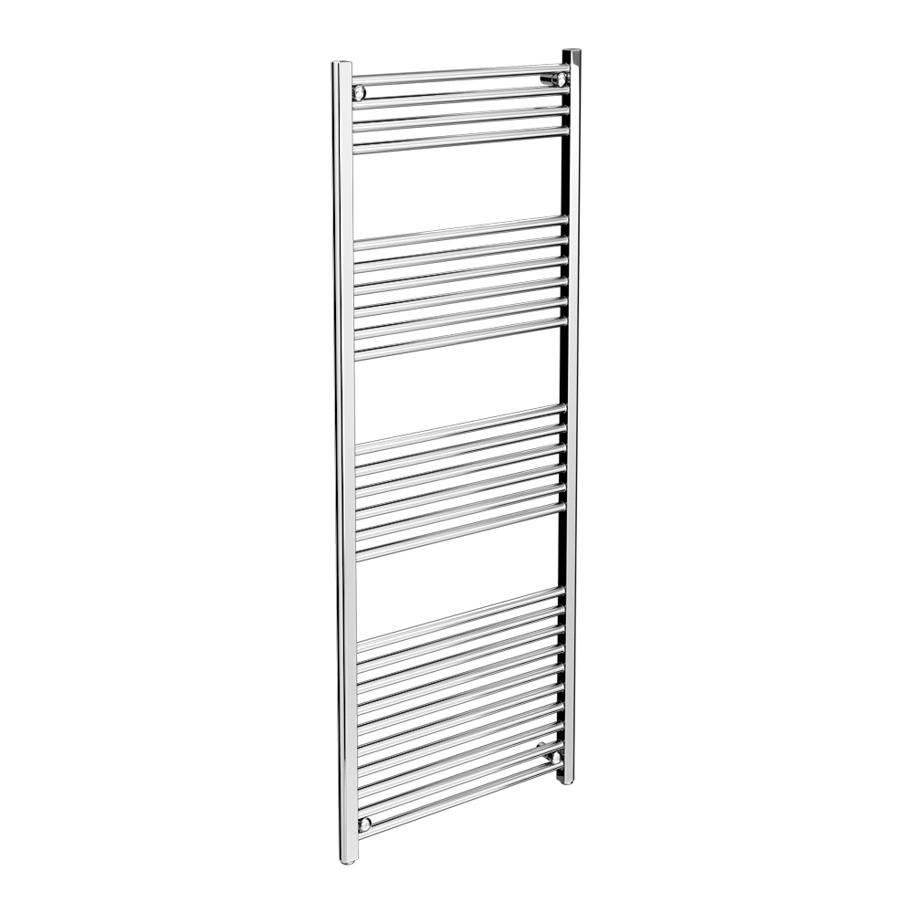 Diamond Heated Towel Rail - 600mm x 1600mm - Chrome - Straight Large Image