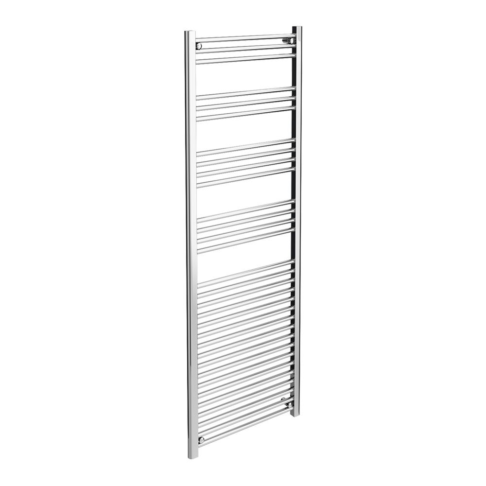Diamond Heated Towel Rail - W600 x H1800mm - Chrome - Straight profile large image view 1