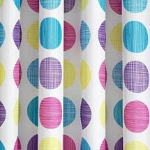 Dots Multi-Coloured Textile Shower Curtain W1800 x H1800mm Medium Image