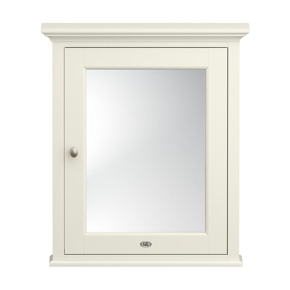Downton Abbey Traditional Mirror Cabinet (650mm Wide - Ivory) Large Image