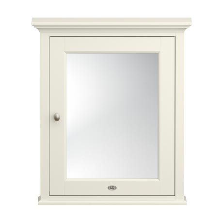 Downton Abbey Traditional Mirror Cabinet (650mm Wide - Ivory)