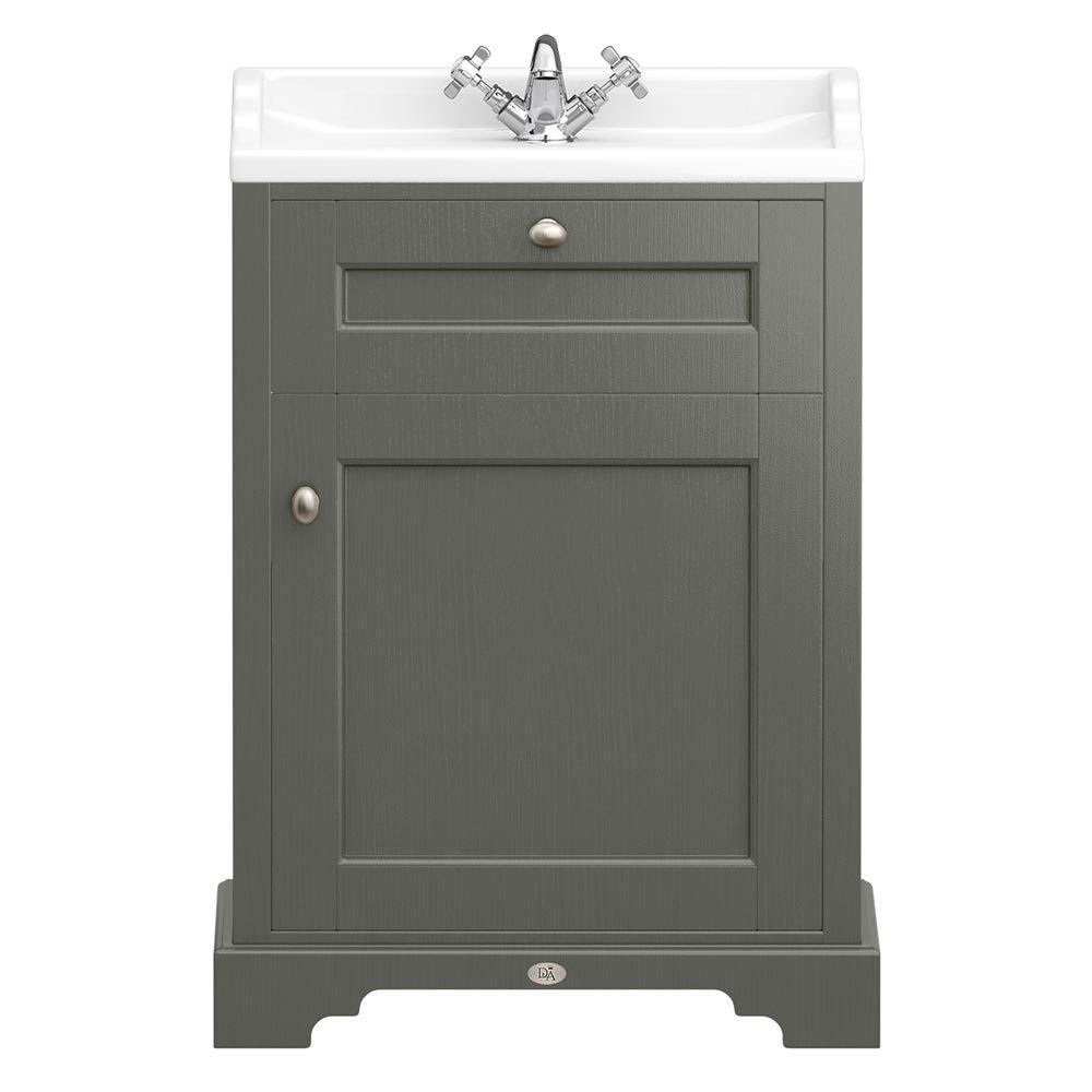 Downton Abbey Traditional Vanity Unit (600mm Wide - Charcoal) Large Image