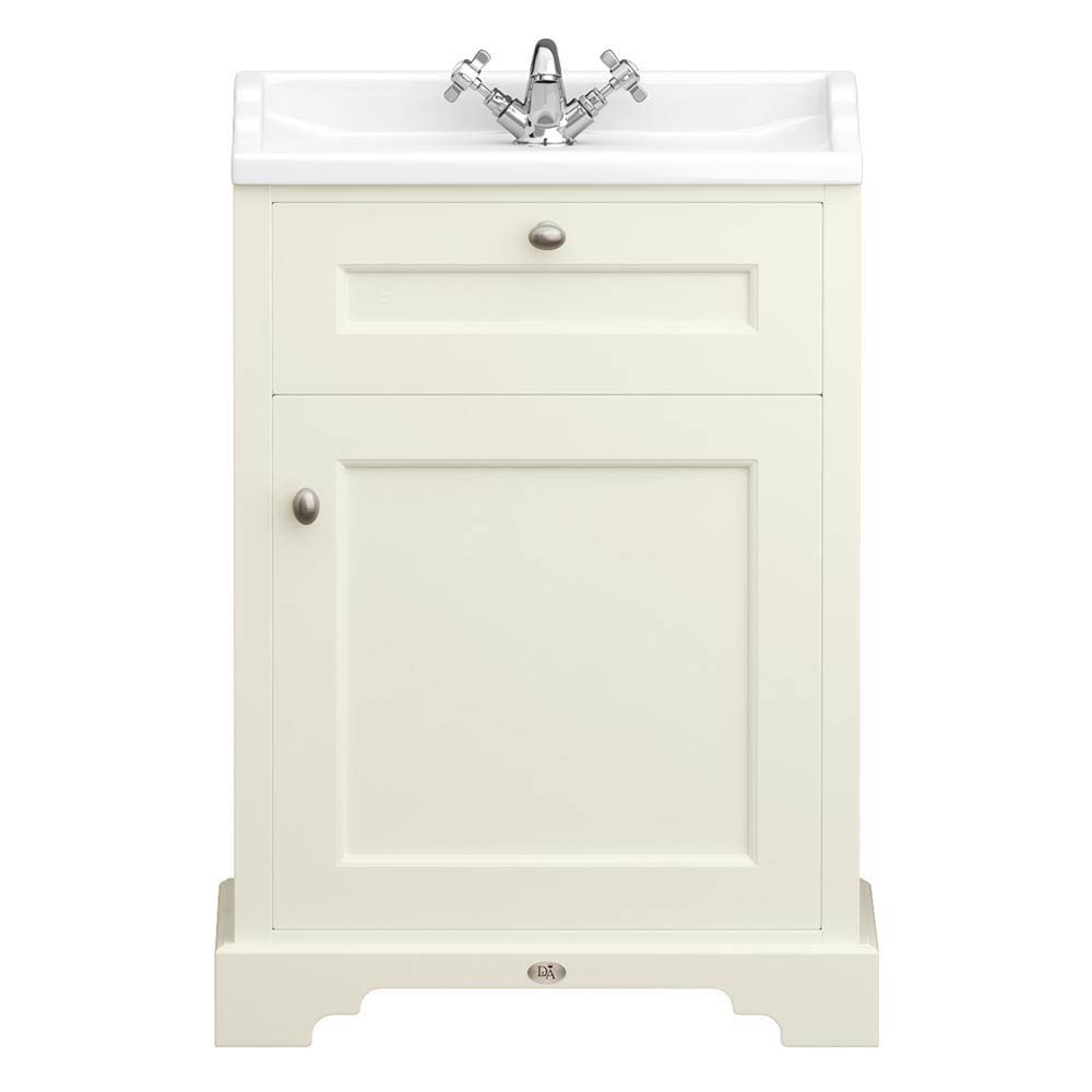 Downton Abbey Traditional Vanity Unit (600mm Wide - Ivory) profile large image view 1