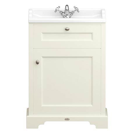 Downton Abbey Traditional Vanity Unit (600mm Wide - Ivory)