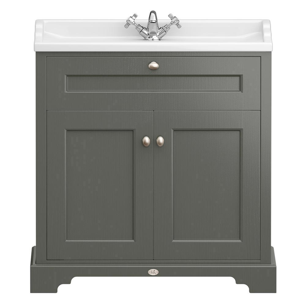 Downton abbey traditional vanity unit 800mm wide charcoal