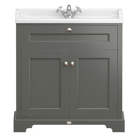 Downton Abbey Traditional Vanity Unit (800mm Wide - Charcoal)