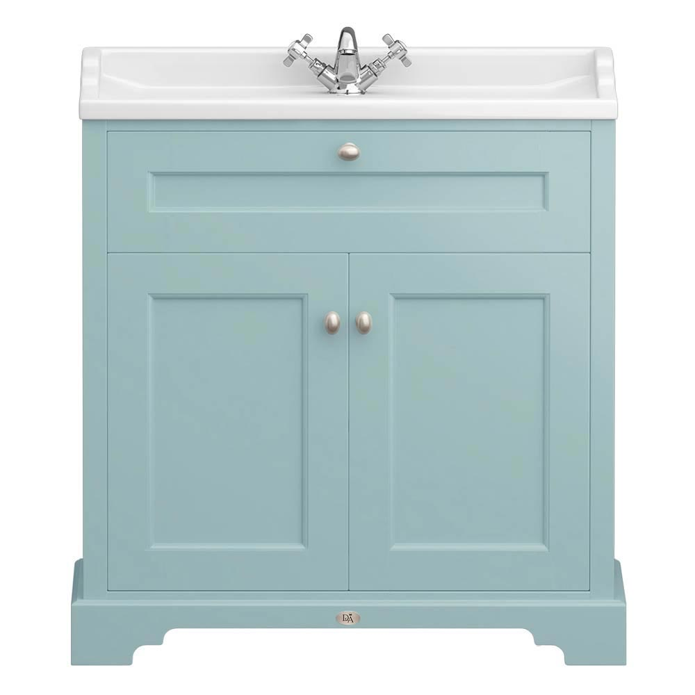 Downton Abbey Traditional Vanity Unit (800mm Wide - Duck Egg Blue) Large Image