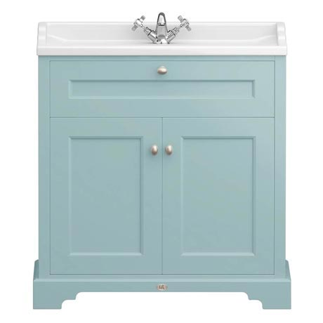 Downton Abbey Traditional Vanity Unit (800mm Wide - Duck Egg Blue)
