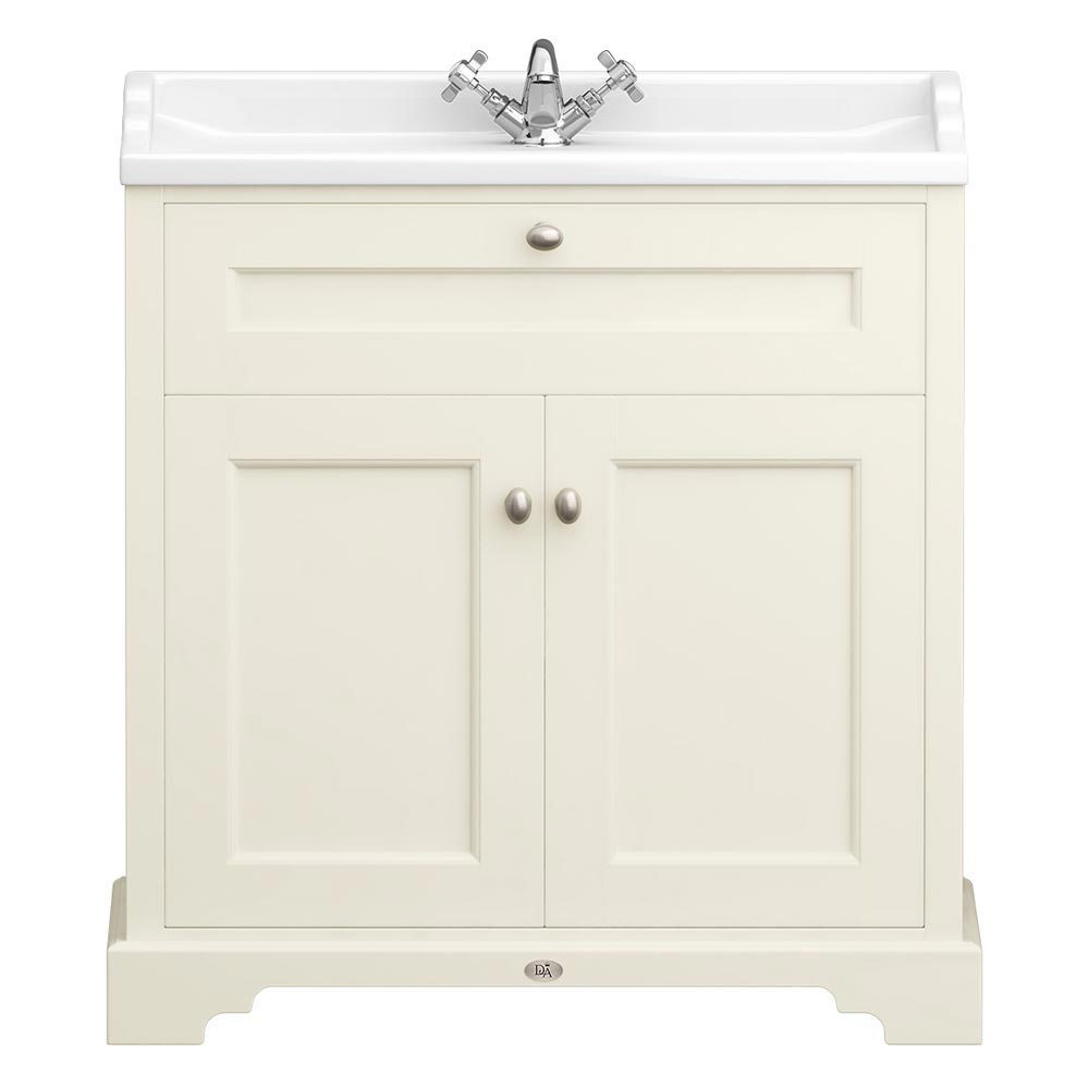 Downton Abbey Traditional Vanity Unit (800mm Wide - Ivory) Large Image