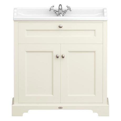 Downton Abbey Traditional Vanity Unit (800mm Wide - Ivory)