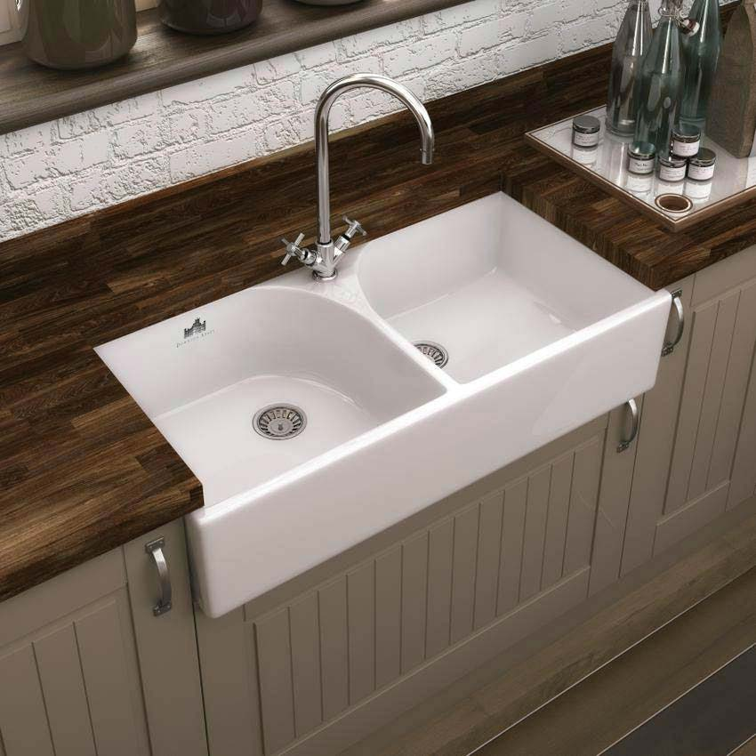 Downton Abbey Double Butler Kitchen Sink - W795xD500mm - DAFC909 profile large image view 2