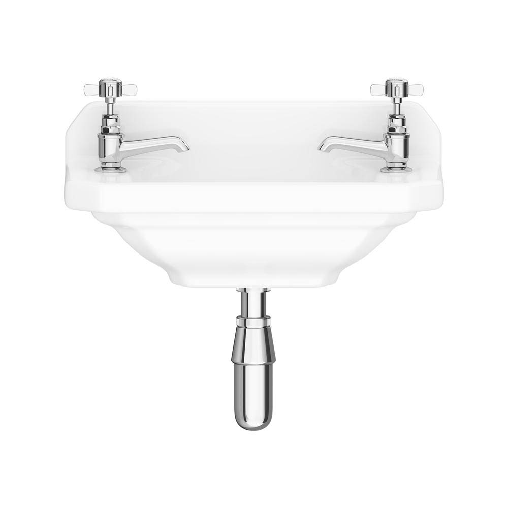 Downton Abbey Carlton 515mm Cloakroom Basin - 2 Tap Hole profile large image view 1