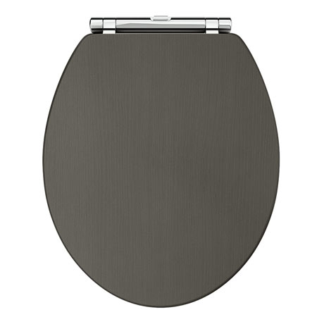 Downton Abbey Carlton Charcoal Wooden Soft Close Toilet Seat