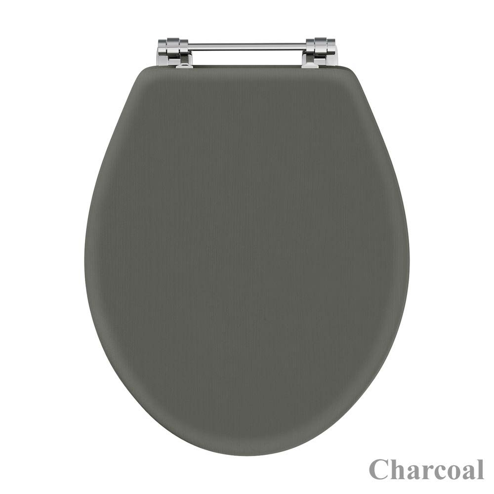 Downton Abbey Carlton Close Coupled Toilet + Soft Close Seat profile large image view 3