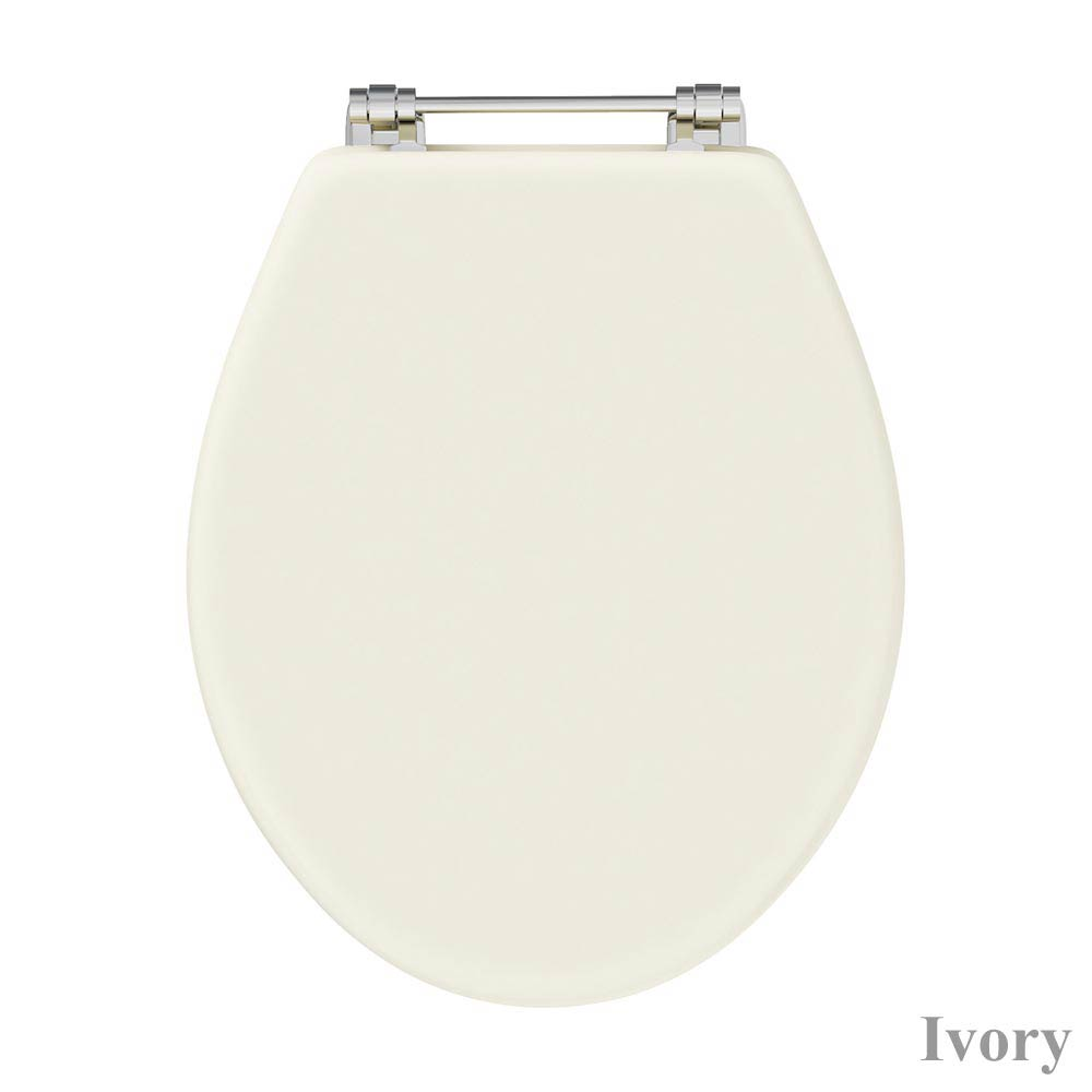 Downton Abbey Carlton Close Coupled Toilet + Soft Close Seat profile large image view 4
